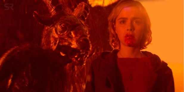 Escena de la serie Sabrina.