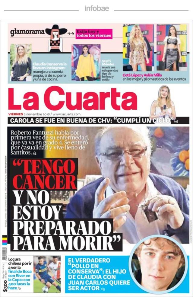 La Cuarta, Chile, 3 de noviembre de 2018 – Debate De Noticias