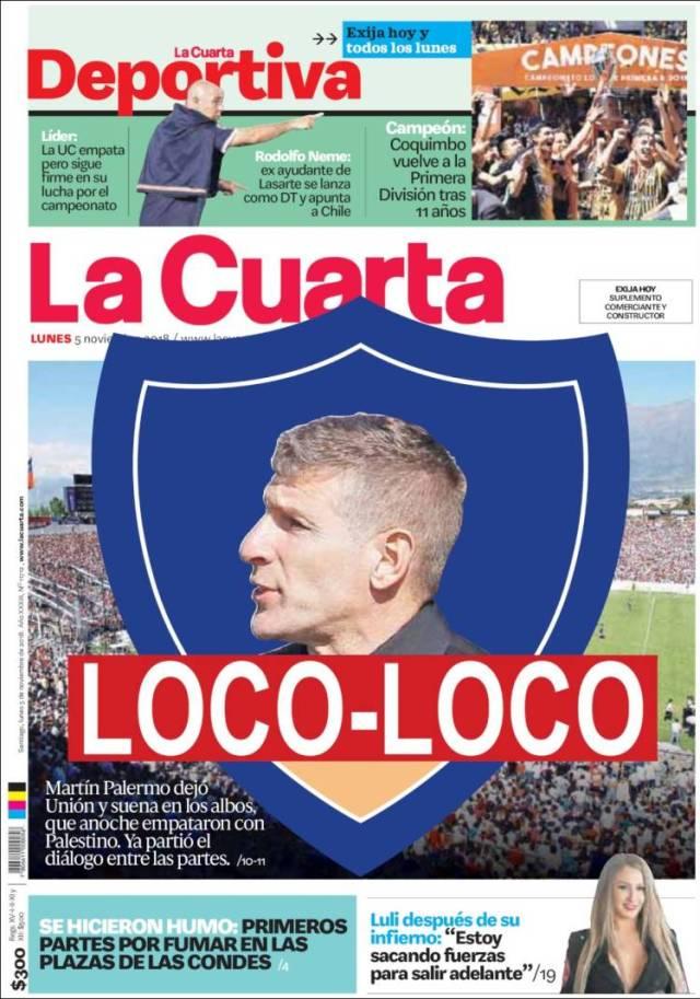 La Cuarta Deportiva, Chile, martes 6 de noviembre de 2018 – Debate ...