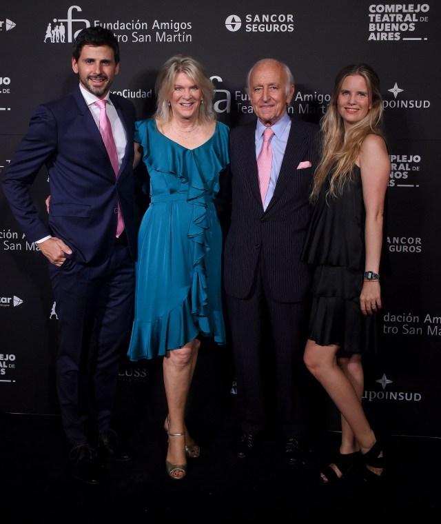 Darío Turovelzky, Eva Thesleff de Soldati, Santiago Soldati y su hija Sofía Soldati
