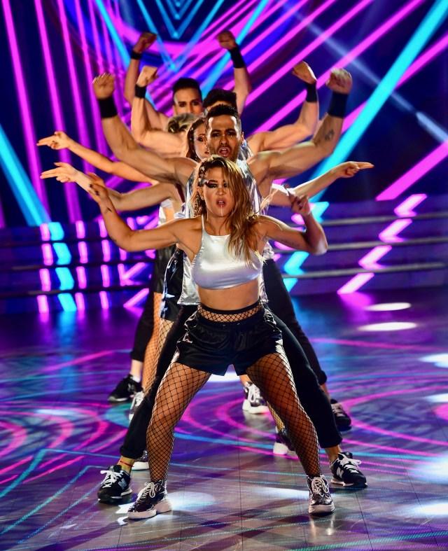 Jimena Barón y su performance