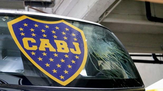 (Nicolás Aboaf) Así llegó el micro de Boca Juniors al Monumental