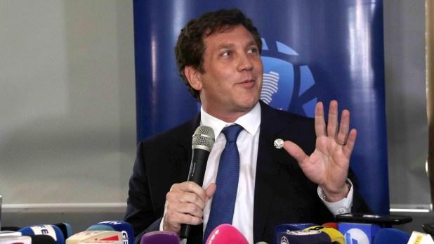 Alejandro Domínguez hizo un balance positivo de la gestión (EFE/Andrés Cristaldo)
