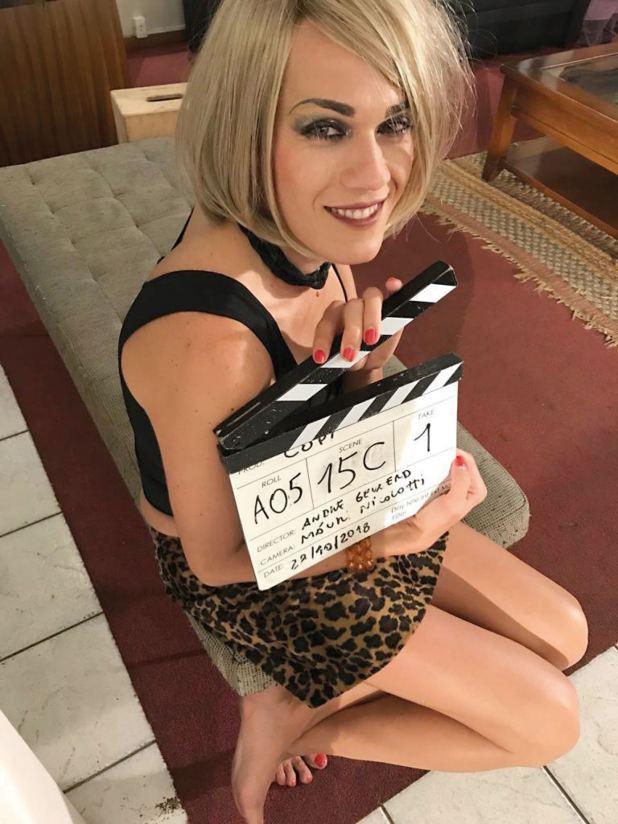 La actriz acaba de filmar Copi, una película del director André Gevaerd.