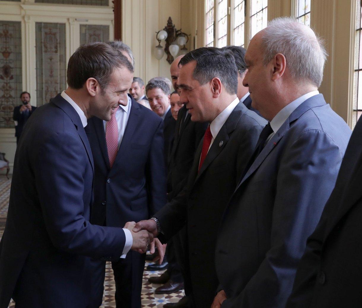 Finocchiaro recibió al presidente francés Emmanuel Macron en Casa Rosada