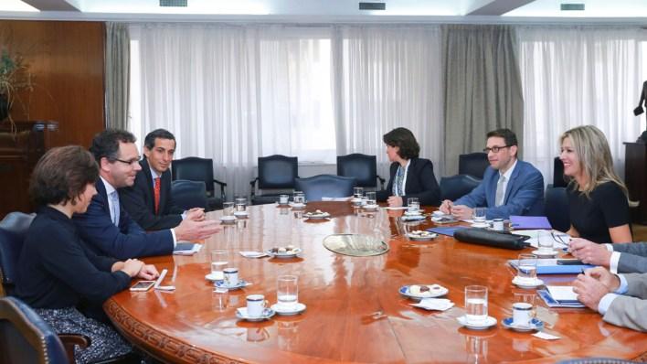 La reunión con Sandleris y su equipo