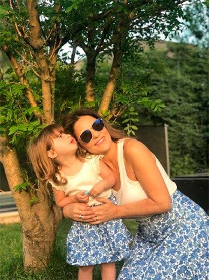 Fernanda Callejón y su hija