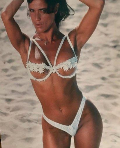 María Fernanda trabajó como vedette durante 15 años (foto del año 2000)