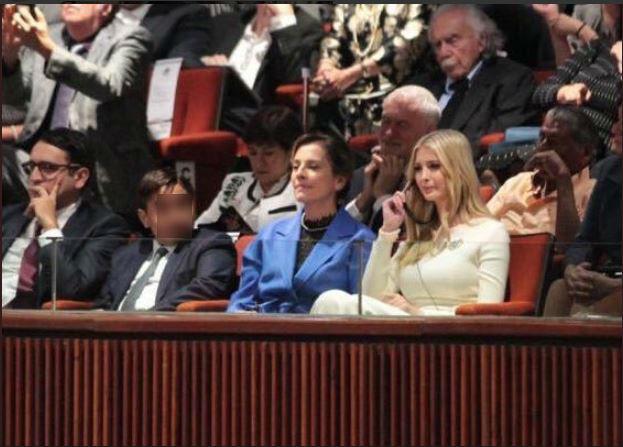La esposa de Andrés Manuel López Obrador se sentó en primera fila junto a Ivanka Trump (Foto: Especial)