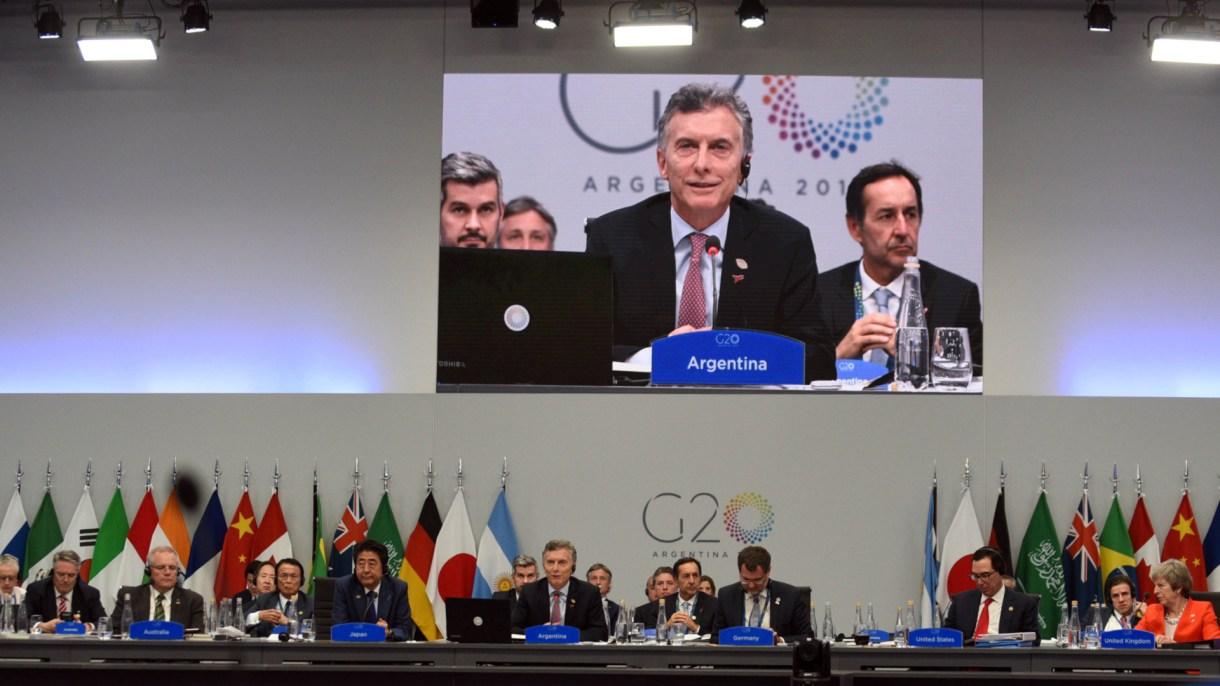 Macri y los líderes del mundo durante una sesión del G20 en Buenos Aires. (Reuters)