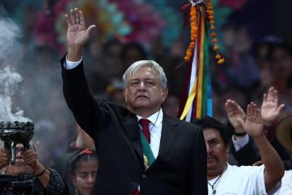 Andrés Manuel López Obrador en el Zócalo el 1 de diciembre (Foto: REUTERS/Edgard Garrido)