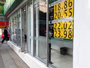 En la jornada del jueves el pesocerró la jornadacon una ganancia de 0.16 centavos