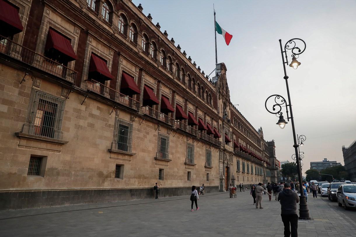 Así lucen las afueras del Palacio Nacional sin vallas (Foto: Especial)