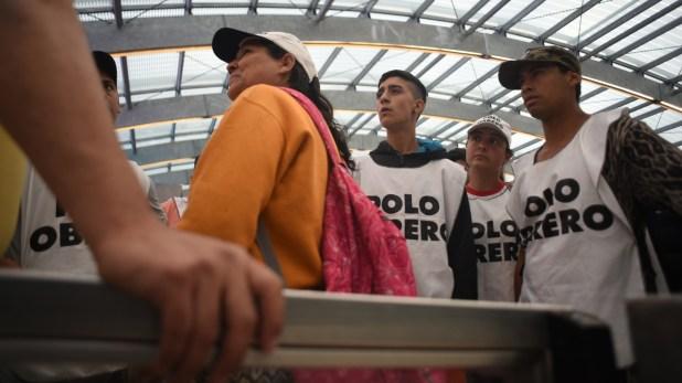 Los militantes del Polo Obrero protagonizaron la protesta