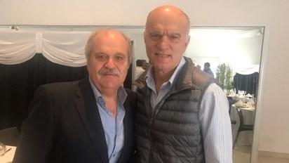 Los intendentes de Ezeiza, Alejandro Granados, y de Lanús, Néstor Grindetti