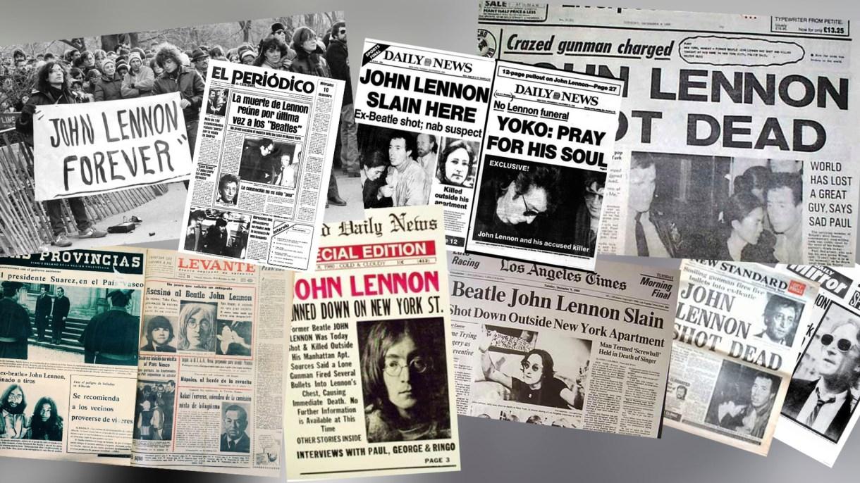 El asesinato de John Lennon cubrió las tapas de todos los diarios del mundo.