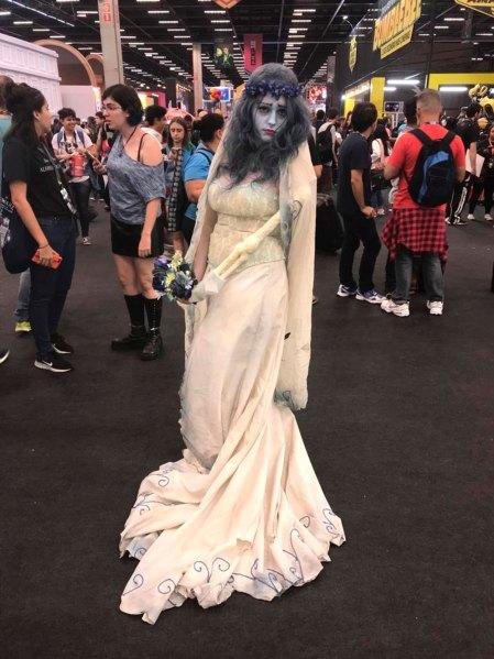 Mariana, de Campinas, recreando a Corpse Bride, de El cadáver de la novia.
