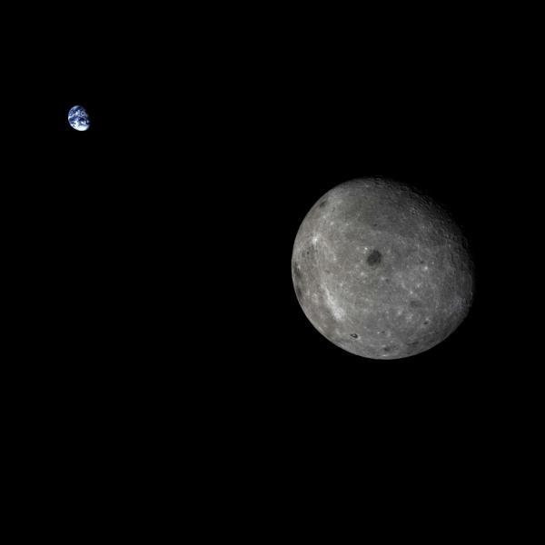 La sonda china Chang'e 5 T1, lanzada previamente, fotografió la Tierra y la cara oculta de la Luna. (CNSA)