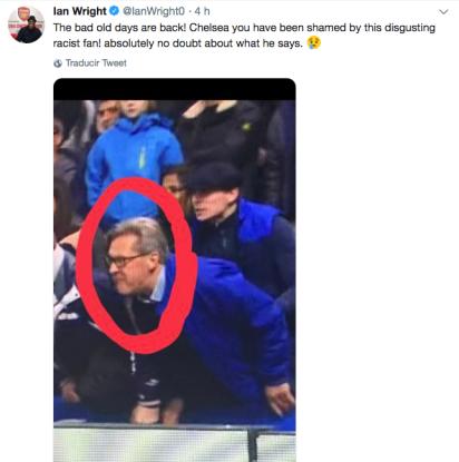 Ian Wright condenó los insultos y pidió al Chelsea que esclarezca el caso (Foto: Twitter Ian Wright)