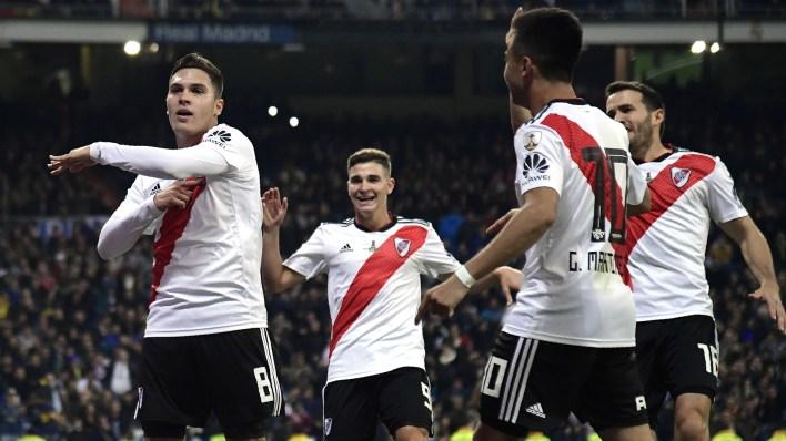 Quintero marcó el domingo el 2-1 en la final de la Libertadores ante Boca (AFP)