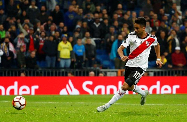 Gonzalo Martínez y el tercer gol de la final de la Libertadores (REUTERS/Juan Medina)