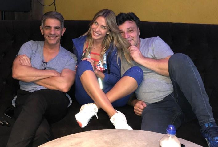 Luisa Drozdek con Pablo Echarri y Marcos Carnevale