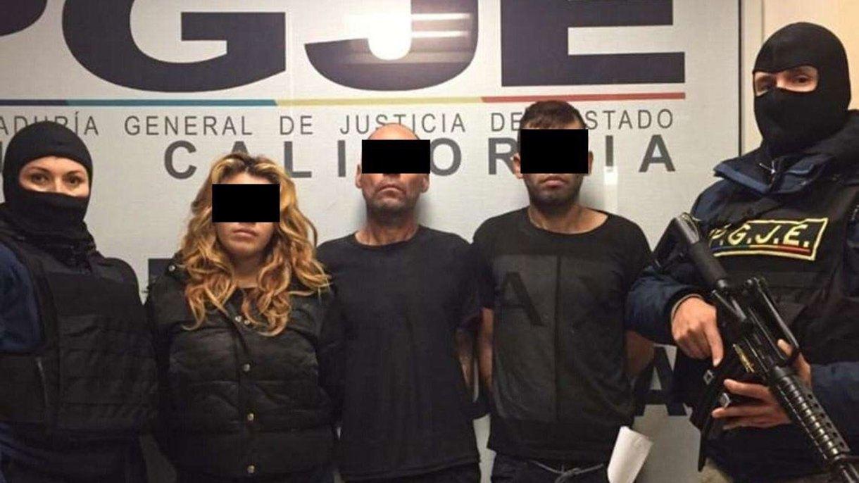 Los presuuntos asesinos de dos jóvenes migrantes hondureños. (Foto: Especial)