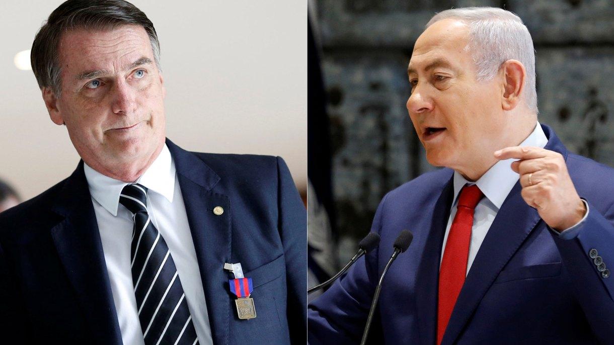 Jair Bolsonaro y Benjamin Netanyahu (Reuters)