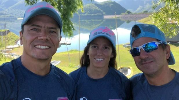 Roberto Gómez Coll, Delfina Álvarez y Maximiliano Kugler (@triatlondesafio23)