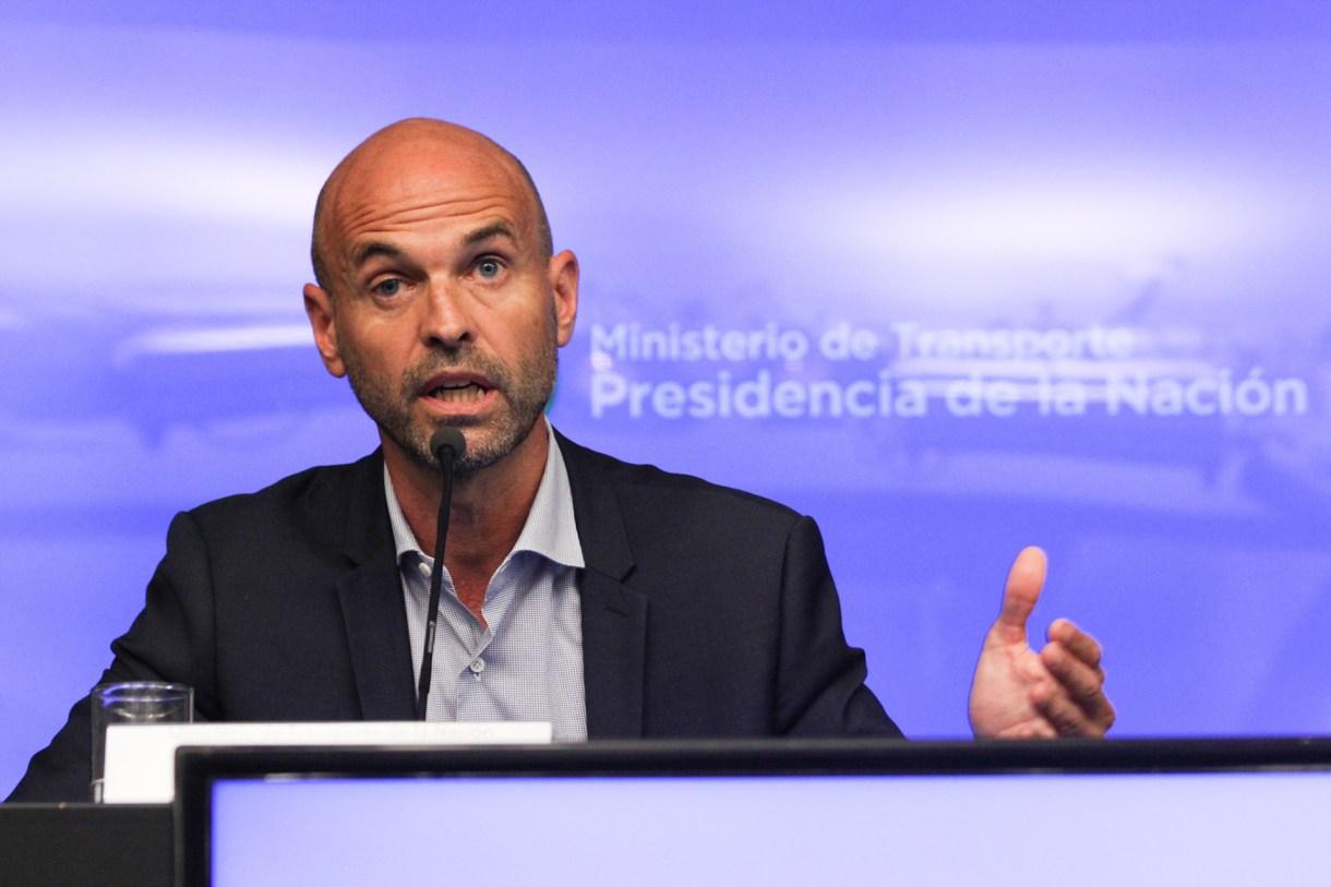 El ministro de Transporte Guillermo Dietrich (Matías Baglietto)