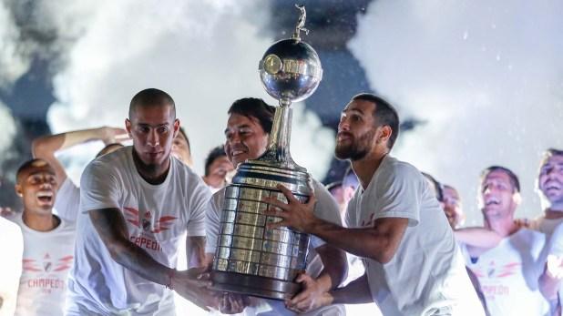 River festeja la obtención de la Copa Libertadores de América en el Monumental (Nicolás Aboaf)