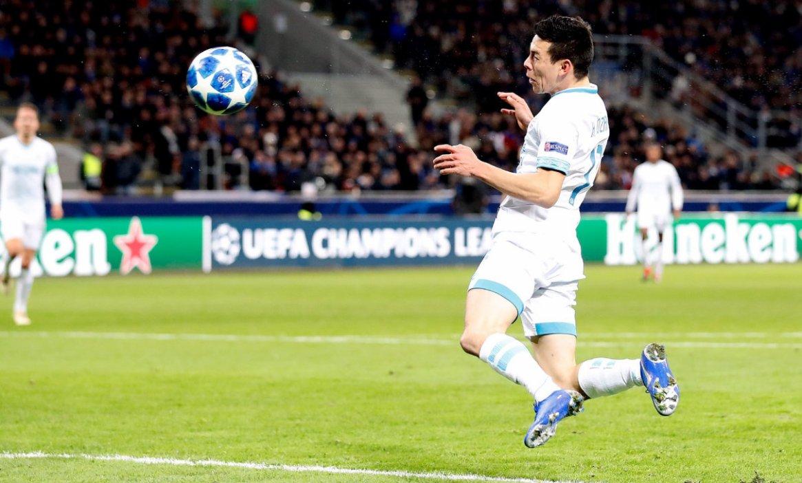 El gol le costó la eliminación al Inter (Foto: @HirvingLozano70)