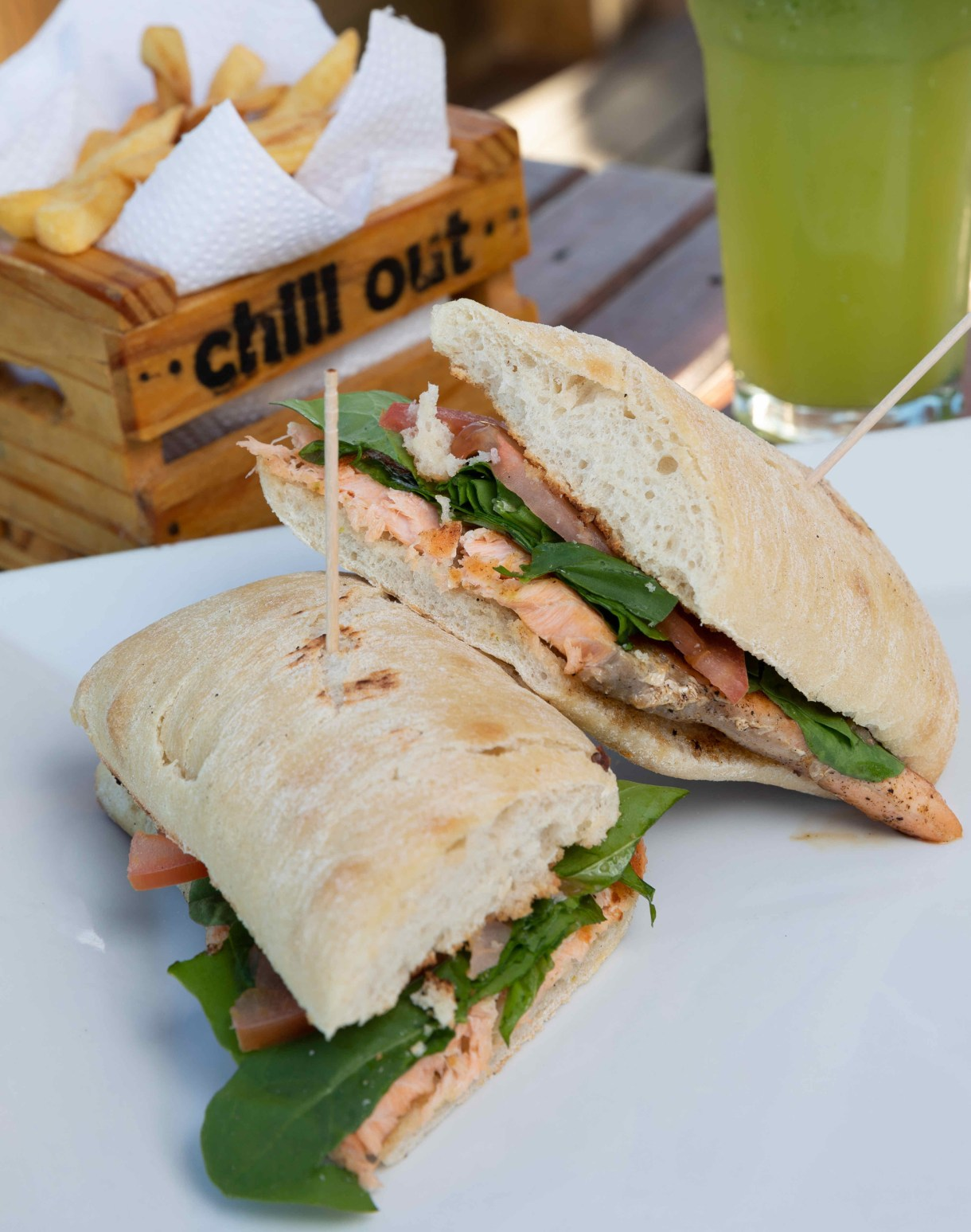 Chivito de salmón, una estrella de Chill Out en Punta del Este (Chill Out)