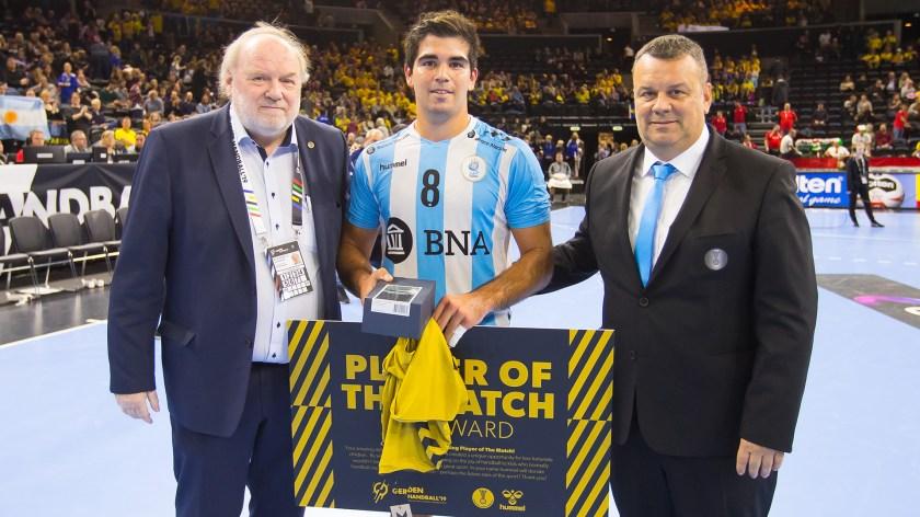 "Pablo Simonet fue nombrado ""Player of the match"" ante Hungría (IHF)"