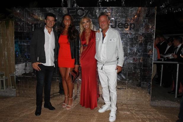 Guillermo Coria y su mujer junto a Gabriela Castellani y Cristiano Rattazzi