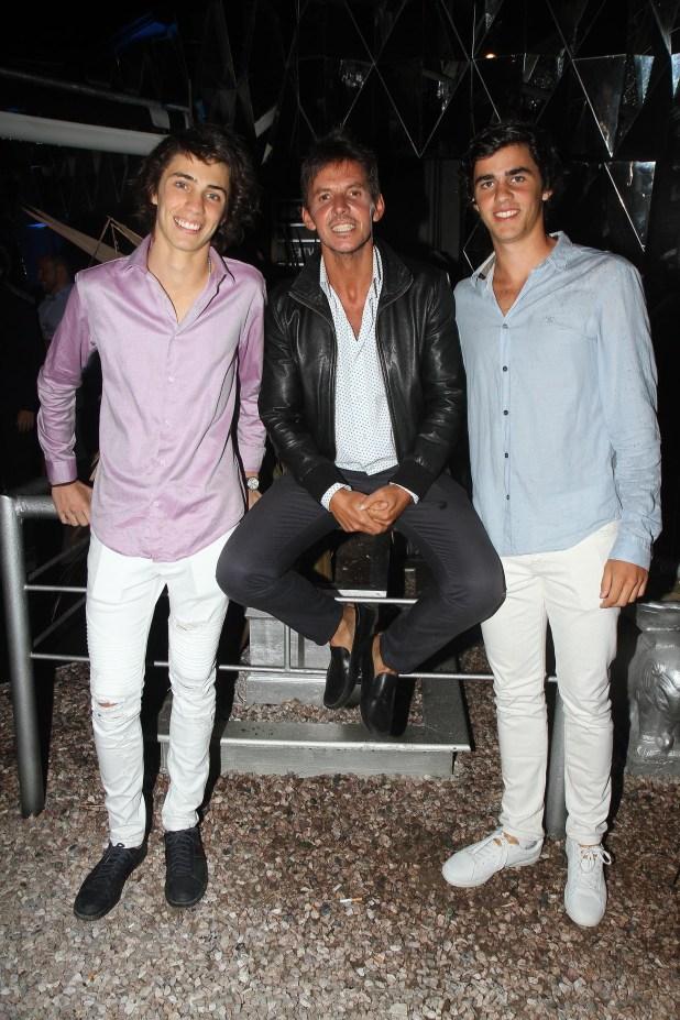 Gerard Confalonieri y sus sobrinos, Rafael y Ricardo (h) Smith Estrada