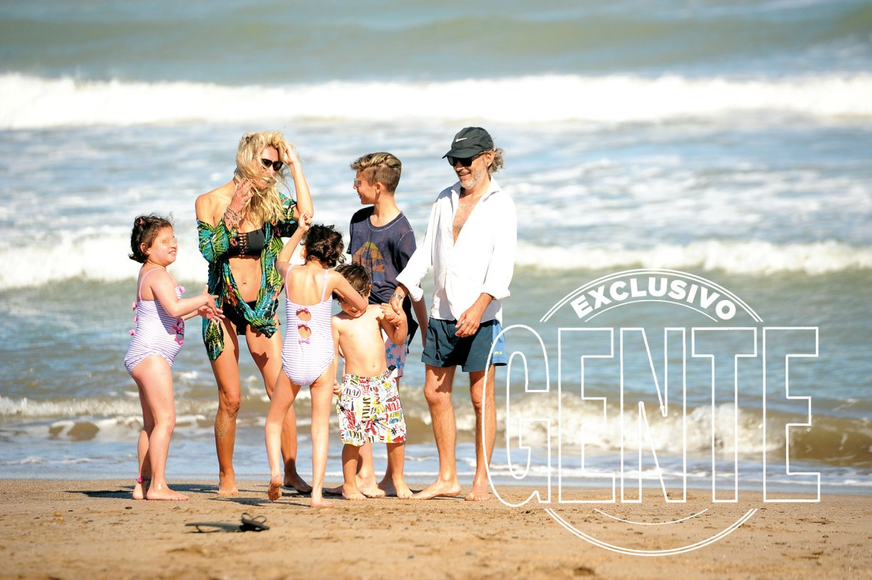 Cielo (8) y Vida (9) son las hijas del actor con Inés Estévez. Son súper sonrientes y cariñosas. Valentino (4) es el hijo en común de Paula y Fabián. Mientras que Benicio (12) es de la actriz y el psicólogo Martín Lembo.