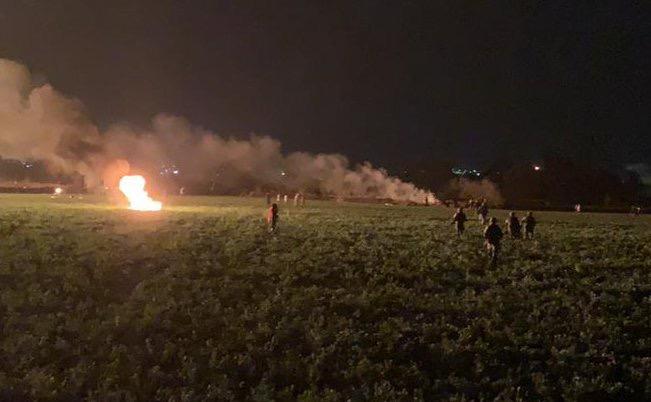 Un flamazo provocó el incendio en la zona que ha provocado la muerte a 67 personas (FOTO: SEDENA)