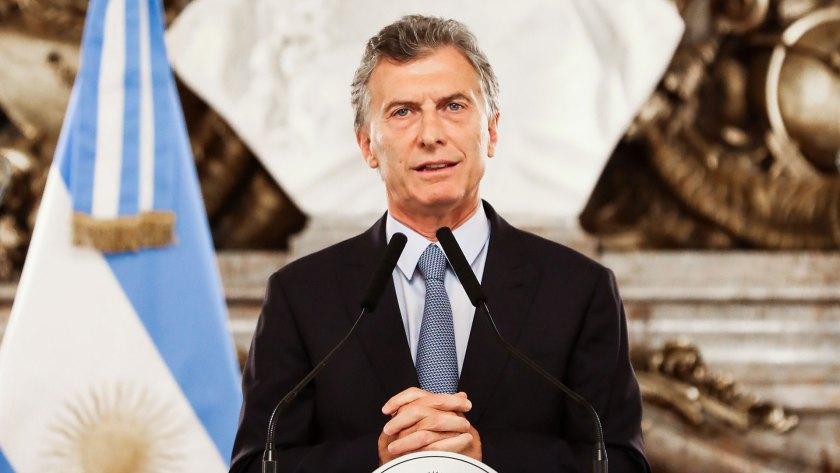 El presidente Macri anunciando ayer que firmaría el decreto que pondrá en marcha la extinción de dominio
