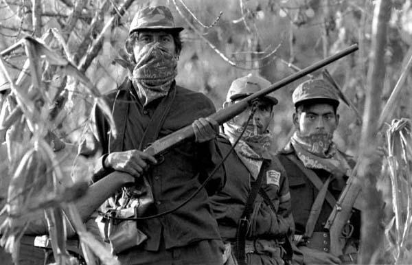 Integrantes del Ejército Zapatista