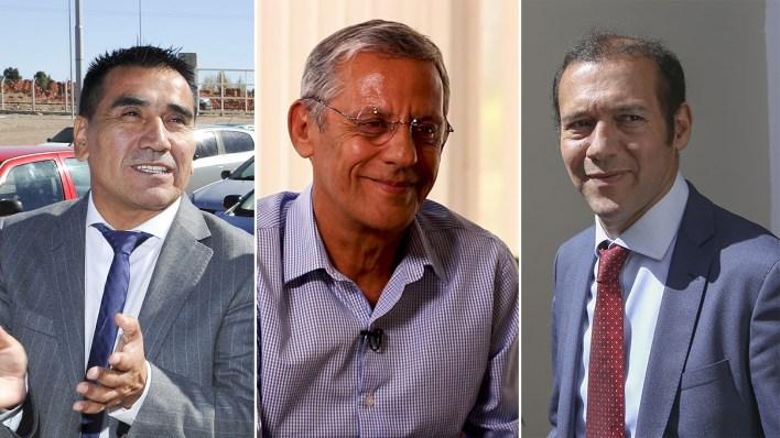 Los candidatos Ramon Rioseco, Pechi Quiroga y Omar Gutierrez disputarán en 42 días una elección muy reñida en intención de voto