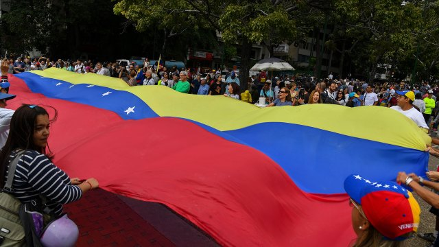 Protesta en Caracas (AFP)