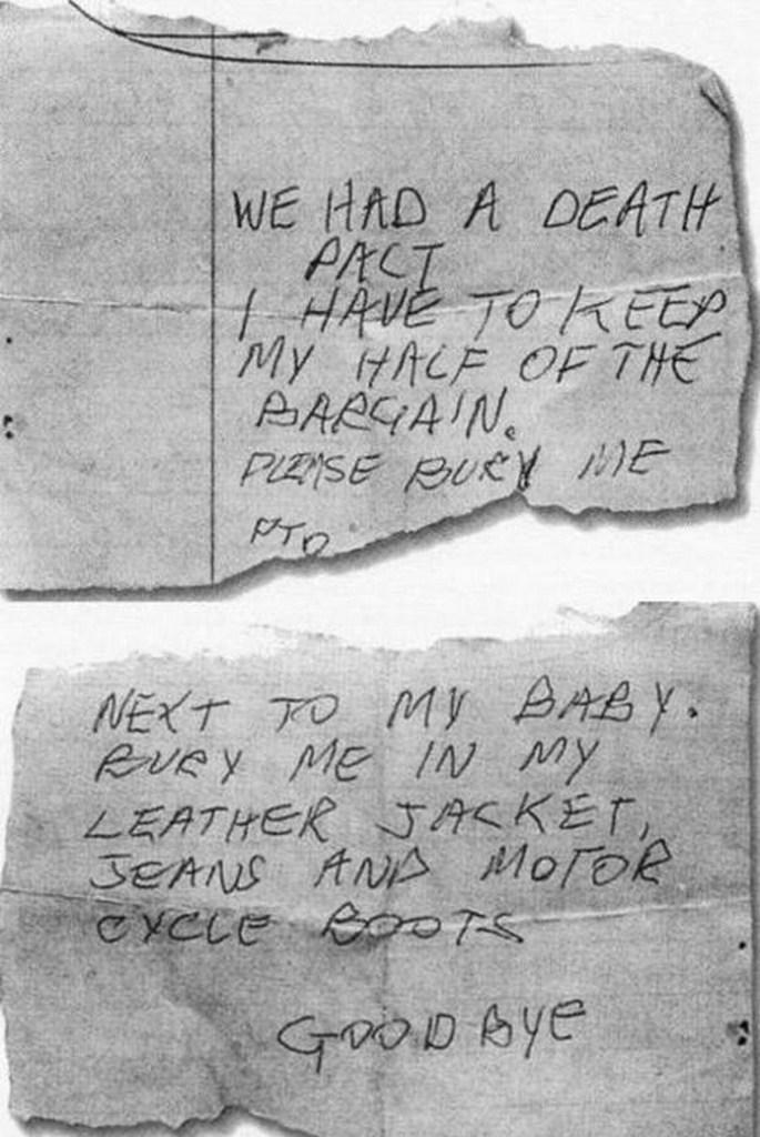La nota suicida