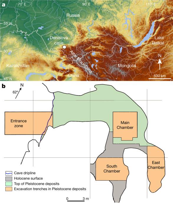 La cavernaubicada en Siberia tiene una entrada (Entrance zone) y tres cámaras: principal (Maine Chamber),sur (South Chamber) y este (East Chamber). (Nature)