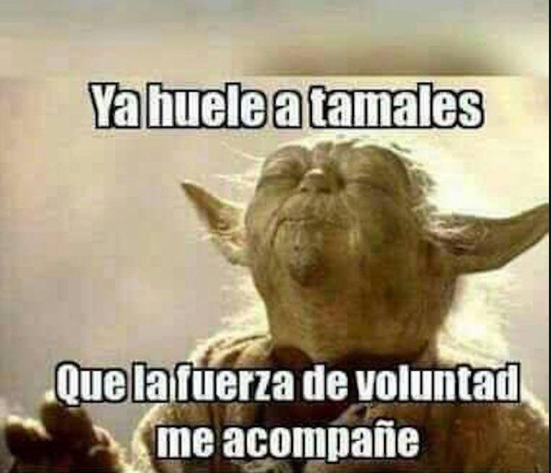Hasta el maestro Yoda sucumbe ante los tamales (Foto: Redes Sociales)