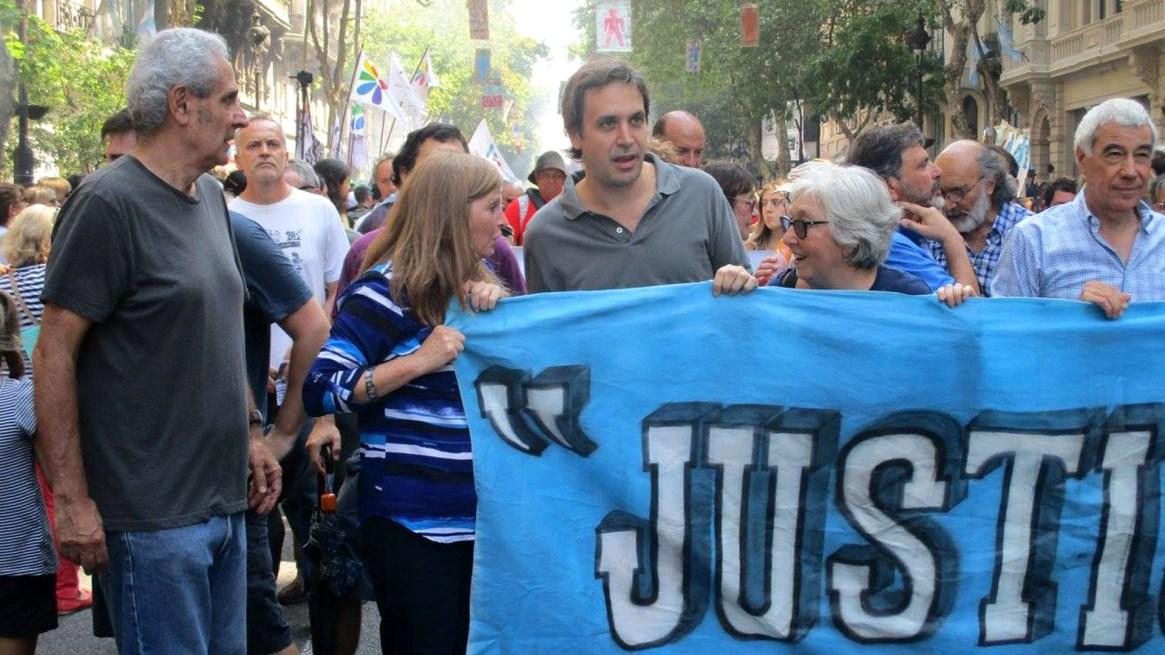 El juez Ramos Padilla, en una marcha de Justicia Legítima (@JusticiaLegítima)