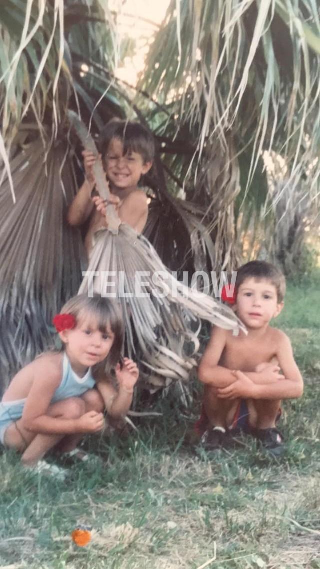 En el campo, con sus primos
