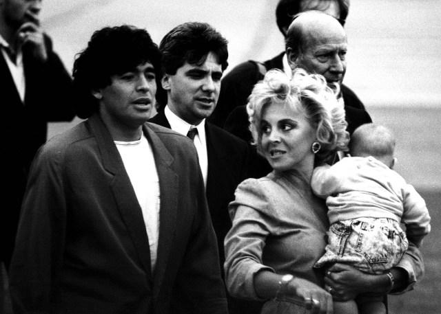Diego Maradona y Claudia Villafañe (Foto: The Grosby Group)