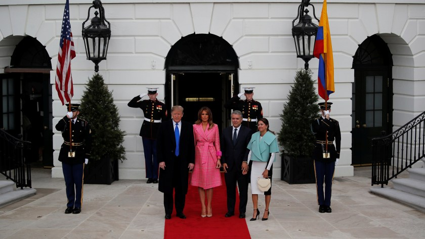 Donald Trump recibió en la Casa Blanca a Iván Duque (REUTERS/Carlos Barria)