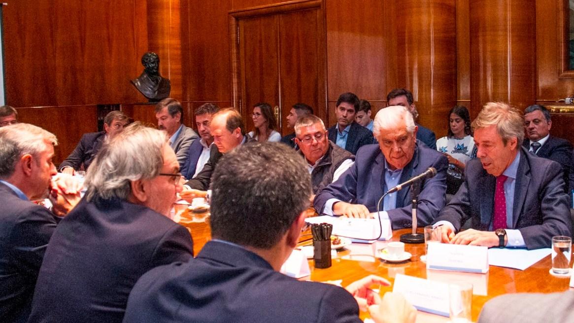 Otra de las imágenes de la reunión de hoy